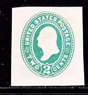 US CUT  SQUARE  U 305       *   1887-94  ISSUE - Postal Stationery