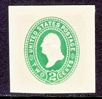 US CUT  SQUARE  U 312   AMBER       *   1887-94  ISSUE - Postal Stationery