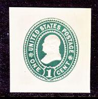 US CUT  SQUARE  U 352      *   1899  ISSUE - Postal Stationery