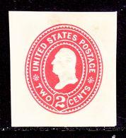 US CUT  SQUARE  U 362  AMBER      *   1899  ISSUE - Postal Stationery