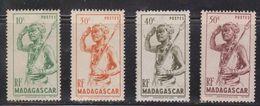 MADAGASCAR Scott # 269-72 MH - Warrior With Spear - Madagascar (1960-...)
