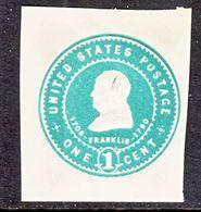 US CUT  SQUARE  U 379   AMBER        *   1903  ISSUE - Postal Stationery