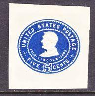 US CUT  SQUARE  U 393      *   1903  ISSUE - Postal Stationery