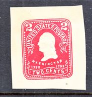 US CUT  SQUARE  U 396   RE-CUT  DIE      *   1904  ISSUE - Postal Stationery
