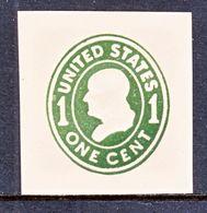 US CUT  SQUARE  U 402   BUFF   *   1907-16  ISSUE - Postal Stationery