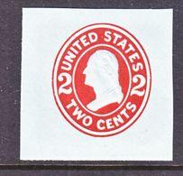 US CUT  SQUARE  U 409   DIE  I     *   1907-16  ISSUE - Postal Stationery