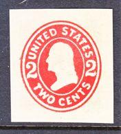US CUT  SQUARE  U 411   DIE  I     *   1907-16  ISSUE - Postal Stationery