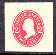 US CUT  SQUARE  U 411 C   DIE  4    *   1907-16  ISSUE - Postal Stationery