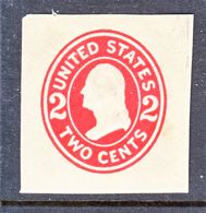 US CUT  SQUARE  U 411 G   DIE  8    *   1907-16  ISSUE - Postal Stationery