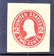 US CUT  SQUARE  U 412 B    DIE  III  AMBER    *   1907-16  ISSUE - Postal Stationery