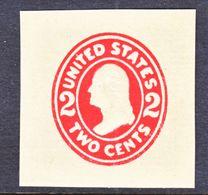 US CUT  SQUARE  U 415 A    DIE I  MANILA    *   1907-16  ISSUE - Postal Stationery