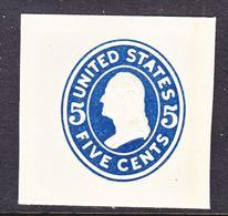 US CUT  SQUARE  U 418    DIE II        *   1915  ISSUE - Postal Stationery