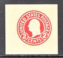 US CUT  SQUARE  U 431    DIE I    BUFF    *   1915  ISSUE - Postal Stationery