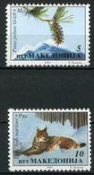 Macedonia 1994 MiNr. 36 - 37  Makedonien Animals Mammals  Big Cats Trees 2v  MNH** 1,50 € - Felini