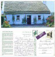 Ireland 1995 Postcard Southwest Cottage, Ros Comáin To U.S., Scott 971 Uniforms - Kerry