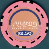 $2.50 Casino Chip. Atlantis, Paradise Island, Bahamas. K74. - Casino