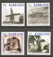 BARBADOS 2002  First Settlement  375th Ann  Windmills  - MM- MH - Barbados (1966-...)