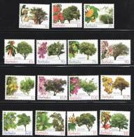 BARBADOS 2005   Trees  SEt Of 15 Different To $10  - UM - MNH - Barbados (1966-...)