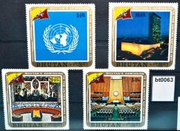 Bt0063 UNO-Beitritt Von Bhutan, UN-Zentrale NY, Sitzungssaal, Bhutan 1971 ** - Bhoutan