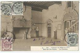 ATH - Intérieur De L'Hôtel De Ville - Salle Des Pas Perdus. La Cheminée. 1911 - Ath