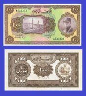 Iran  100 Rial Note 1934 Reza Shah Pahlavi  -  REPLICA  COPY   REPRODUCTION - Iran