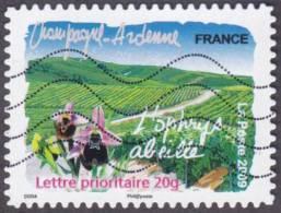 Oblitération Moderne Sur Adhésif De France N°  294 Flore Des Régions, Champagne Ardennes - L'ophrys, Abeille, Vigne - Usados