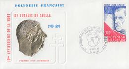Enveloppe  FDC  1er  Jour    POLYNESIE    GENERAL  DE   GAULLE     1980 - De Gaulle (Général)