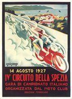 Motocycle Grand Prix Circuito Della Spezia 1927 - Postcard Reproduction - Publicité