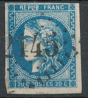 N°46 BLEU FONCE 1er CHOIX. - 1870 Bordeaux Printing
