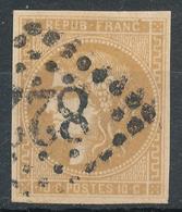 N°43 BISTRE  FONCE 1er CHOIX. - 1870 Emission De Bordeaux