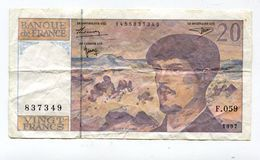 Billet De 20 F 1997   :   DEBUSSY         A   VOIR   !!! - 20 F 1980-1997 ''Debussy''