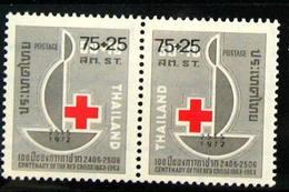 Thailand Stamp 1973 Red Cross Provisionsl 1972 - Tailandia