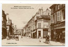 CPA 51 :   REIMS   Rue Gambetta Avec Commerce  A  VOIR  !!!!!!! - Reims