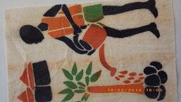 Carte Carnet . Tissu Peint - Burkina Faso