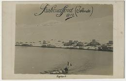 Real Photo Faskrudfjord Islande 1912  Rowing French Navy Arriving - Iceland