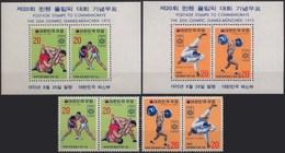 //// JO 1972 - Corée Du Sud Y. 717 / 720** + BF 231 / 232** - M. 845 / 848** + Block 354 / 355 - Ete 1972: Munich