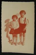 PHOTO ANCIENNE CARTE POSTALE - PORTRAIT D'ENFANTS - DEBUT XXeme (années 20/30) - Personnes Anonymes