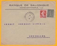 1920 - Levant Français - Devant De Lettre De Constantinople, Turquie Vers Bruxelles, Belgique - Trésor Et Postes 506 - Marcophilie (Lettres)
