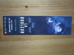 La Douleur. Um Film Ecrite Et Realise Par Emmanuel Finkiel. - Bookmarks