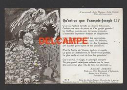 DF / GUERRE 1914 - 18 / QU' EST-CE QUE FRANÇOIS-JOSEPH II PAR ANDRÉ SORIAC DU 52e TERRITORIAL D' INFANTERIE - Guerre 1914-18