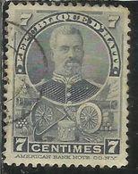 HAITI 1898 1899 PRESIDENT T. Augustin Simon Sam PRESIDENTE CENT. 7c USATO USED OBLITERE' - Haiti