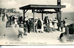 N°3845 A -cpa Saint Aubin Sur Mer -la Pierre à Poissons- - Saint Aubin