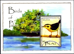BIRDS OF PALAU-SET OF 2 MS-PALAU-2004-SCARCE-MNH-M-206 - Climbing Birds