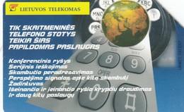 11677-CARTA TELEFONICA - LITUANIA-LIETUVO TELEKOMAS - USATA - Lituania