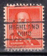 USA Precancel Vorausentwertung Preo's, Locals Ohio, Highland 729 - Vereinigte Staaten