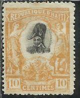 HAITI 1903 EMPEROR JEAN JACQUES DESSALINES PRESIDENT CENT. 10c MNH - Haiti