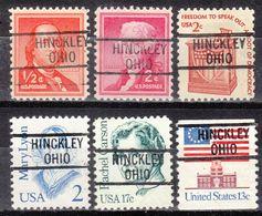USA Precancel Vorausentwertung Preo's, Locals Ohio, Hinckley 819, 6 Diff. - Vereinigte Staaten