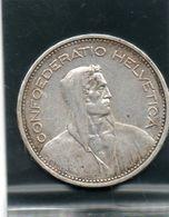 5 Francs En Argent De 1933 - Suisse
