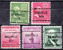 USA Precancel Vorausentwertung Preo's, Locals Ohio, Homerville 713, 5 Diff. - Vereinigte Staaten