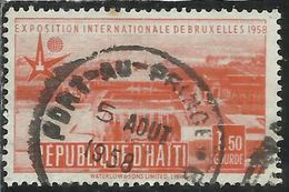 HAITI 1958 UNIVERSAL EXPOSITION  Brussels BRUXELL 1.50g USATO USED OBLITERE' - Haiti